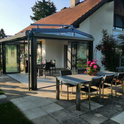 SDL Atrium mit SL 45 Fest+Falt, Wintergarten Markise W20, ZIP Markise