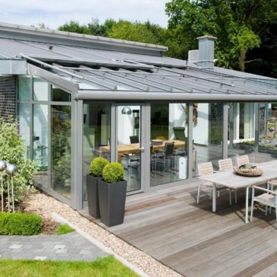 Solarlux Faltwand aus Glas für den Wintergarten
